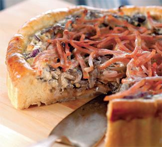 Луковый пирог с окороком | Рецепты с фото