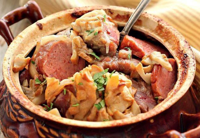 Мачанка из свинины сдомашней колбасой | Рецепты с фото