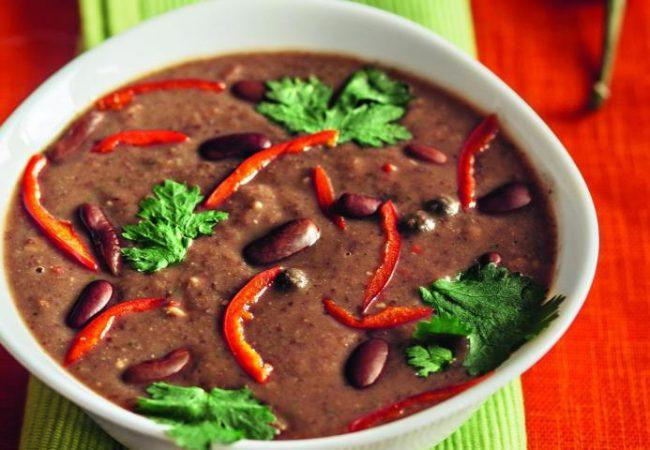 Мексиканский фасолевый суп | Рецепты с фото