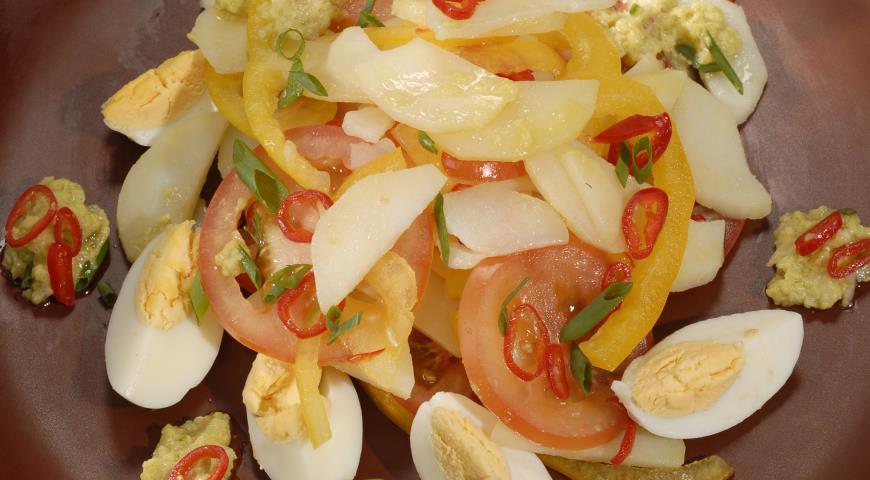 Мексиканский салат с картофелем | Рецепты с фото
