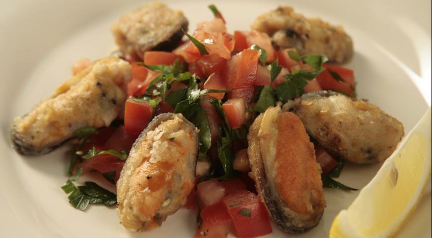 Мидии по-гречески | Рецепты с фото