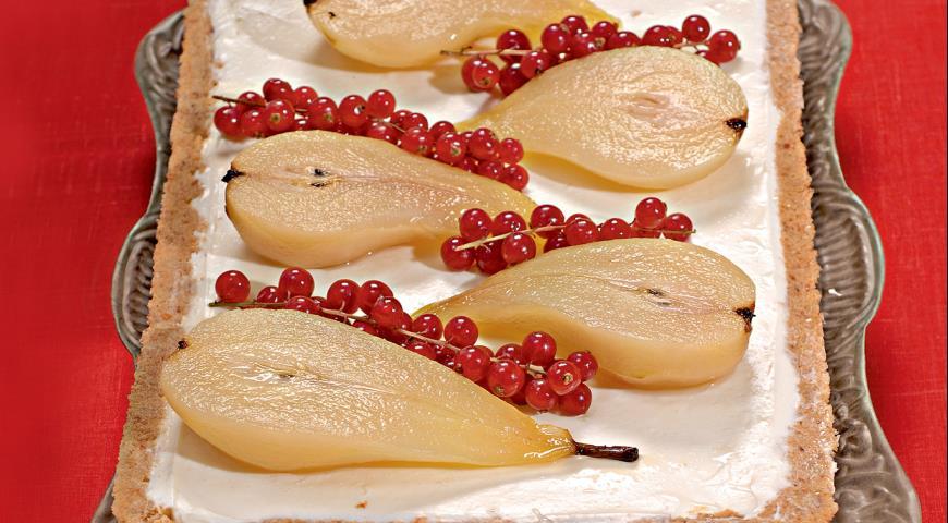 Миндальный чизкейк с грушами | Рецепты с фото