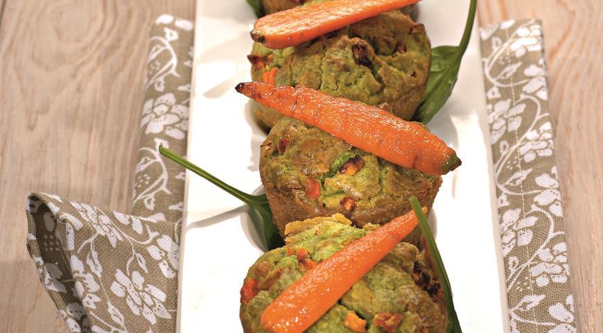 Морковные кексы с пармезаном | Рецепты с фото