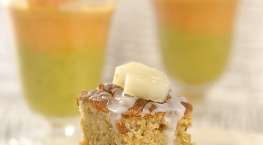 Морковный кекс с грецкими орехами | Рецепты с фото