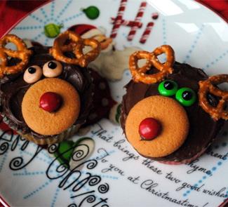 Мраморные маффины Рождественские олени | Рецепты с фото
