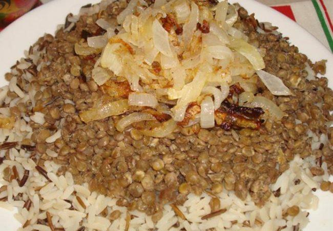 Муджадара, чечевица с рисом | Рецепты с фото
