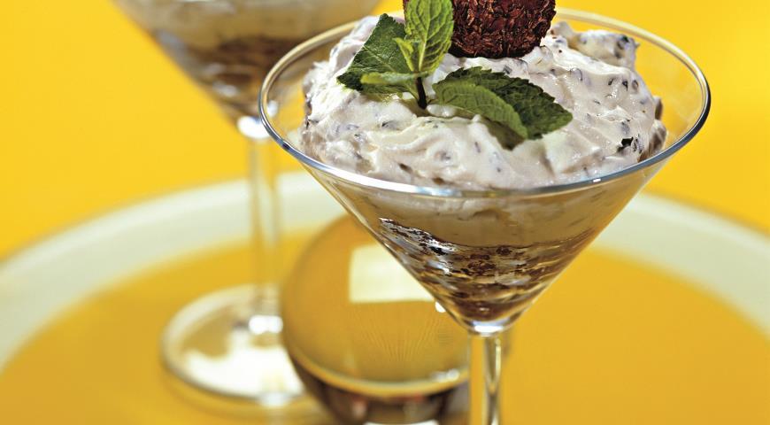 Мятно-творожный десерт | Рецепты с фото