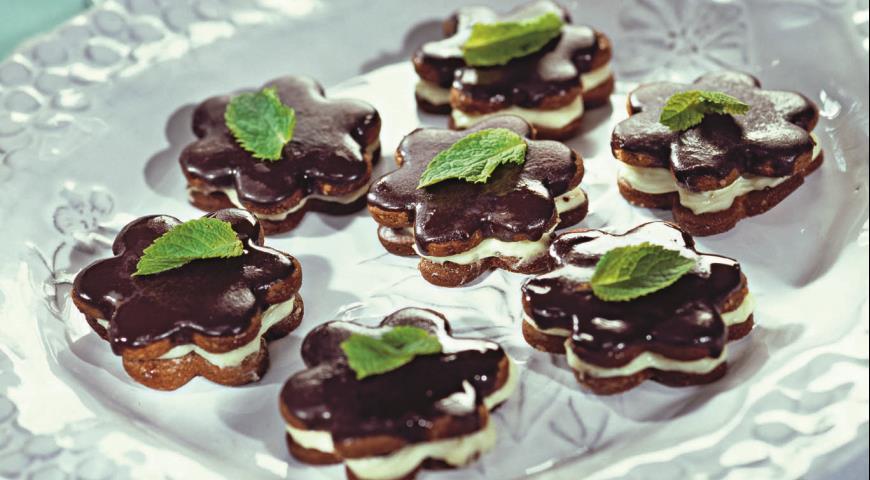 Мятное печенье с шоколадом | Рецепты с фото