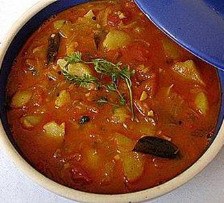 Непальское картофельно-томатное карри | Рецепты с фото