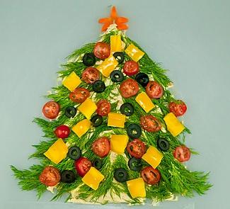 Новогодняя елка На хумусе | Рецепты с фото