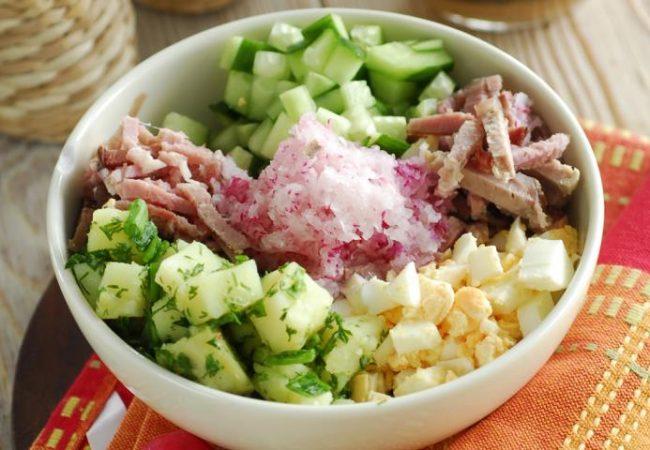 Окрошка мясная | Рецепты с фото