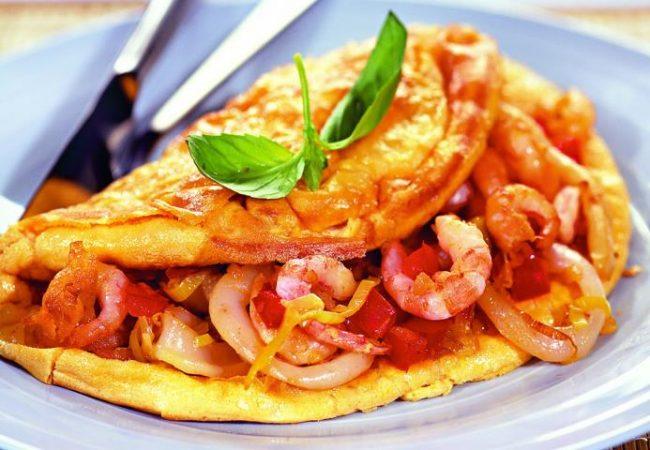 Омлет с морепродуктами | Рецепты с фото
