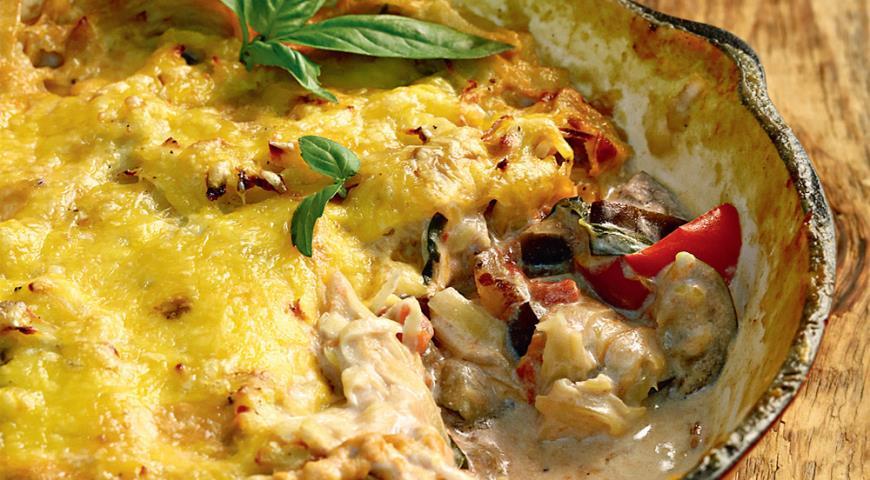 Овощи под картофельной корочкой | Рецепты с фото