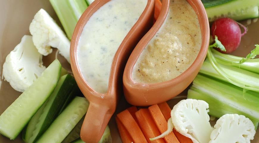 Овощи с разными соусами | Рецепты с фото
