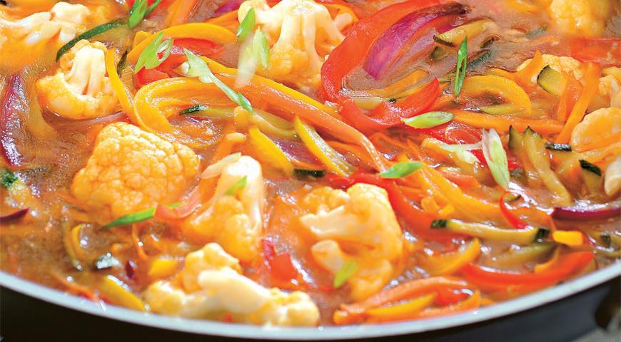 Овощи в кисло-сладком имбирном соусе | Рецепты с фото