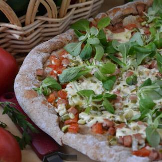 Овощная пицца с ветчиной | Рецепты с фото