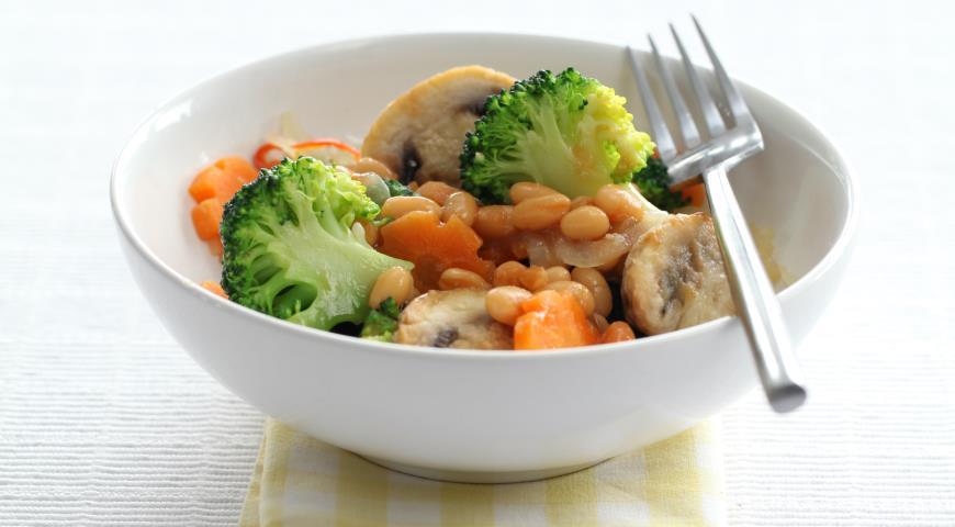 Овощное рагу с фасолью и грибами | Рецепты с фото