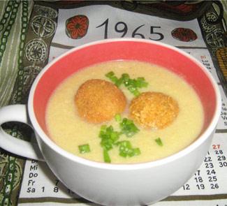 Овощной крем-суп с картофельными шариками | Рецепты с фото