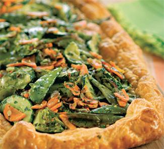 Овощной пирог с песто из петрушки | Рецепты с фото