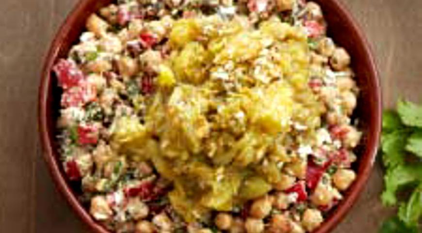 Овощной салат с баклажанами на гриле | Рецепты с фото