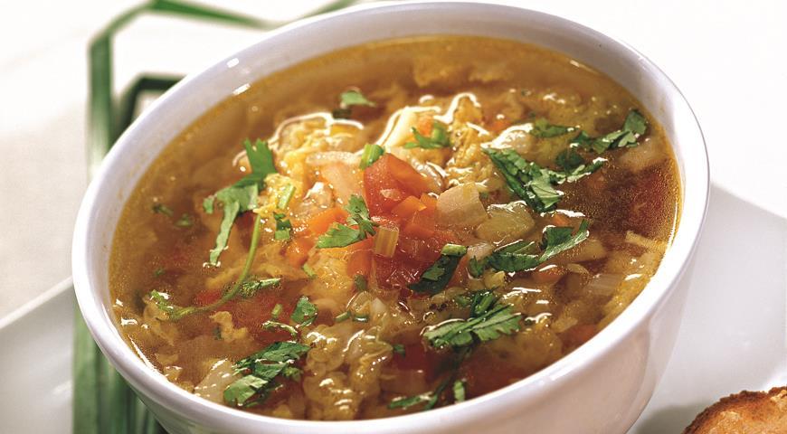 Овощной суп с гренками | Рецепты с фото