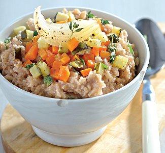 Овсяная каша с овощами и соевым соусом | Рецепты с фото