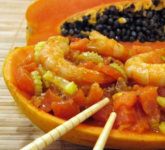 Папайя с креветками | Рецепты с фото