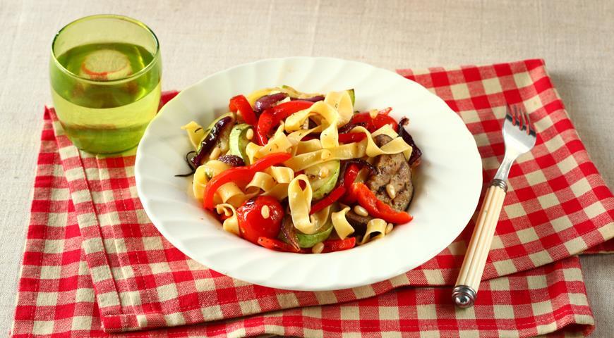 Паста с овощами-гриль   Рецепты с фото