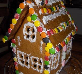 Перечно - имбирный пряничный домик | Рецепты с фото