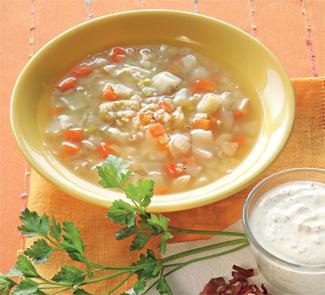 Перловый суп с овощами и беконом | Рецепты с фото