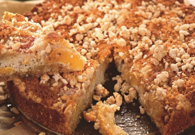 Персиковый пирог со штрейзелем | Рецепты с фото