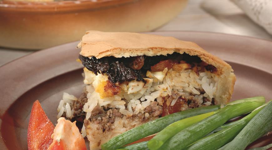 Пирог Губадия с мясом   Рецепты с фото