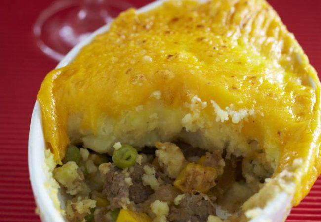 Пирог пастуха с говядиной и овощами | Рецепты с фото