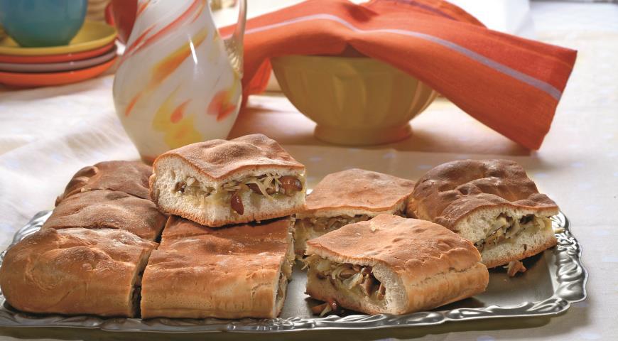 Пирог с капустой и грибами | Рецепты с фото