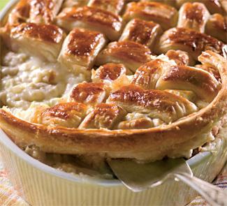 Пирог с курицей и пореем | Рецепты с фото