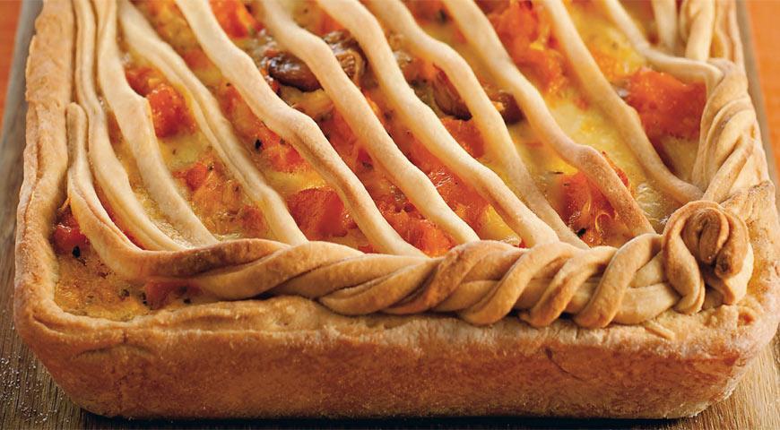 Пирог с печеной тыквой, чесноком и сыром пекорино | Рецепты с фото
