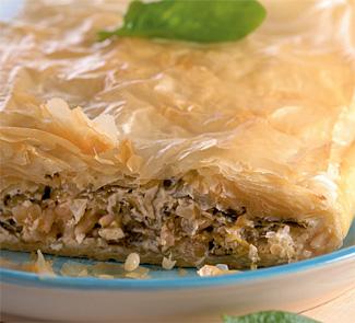 Пирог с сыром фета и шпинатом | Рецепты с фото