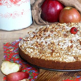 Пирог с тыквой, яболоком и орехами   Рецепты с фото