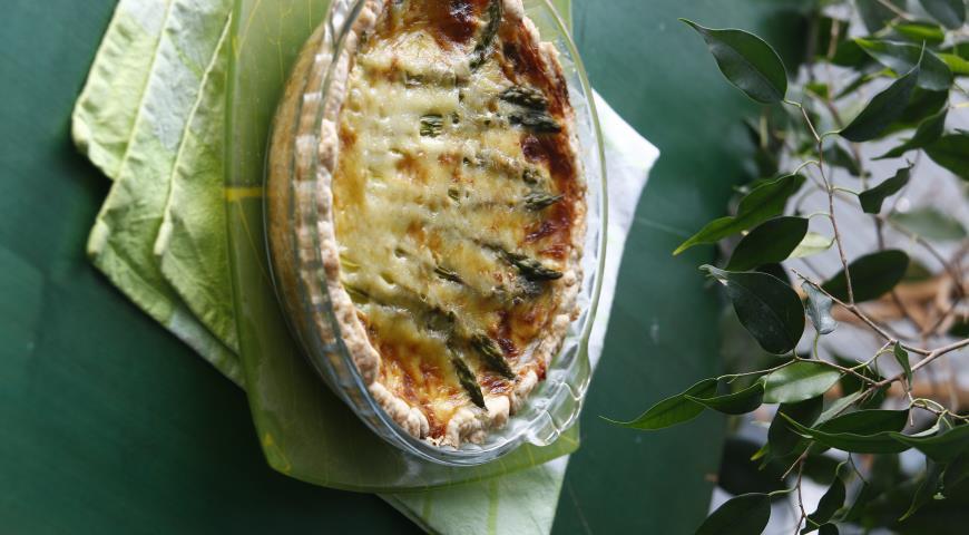 Пирог со спаржей и шпинатом | Рецепты с фото