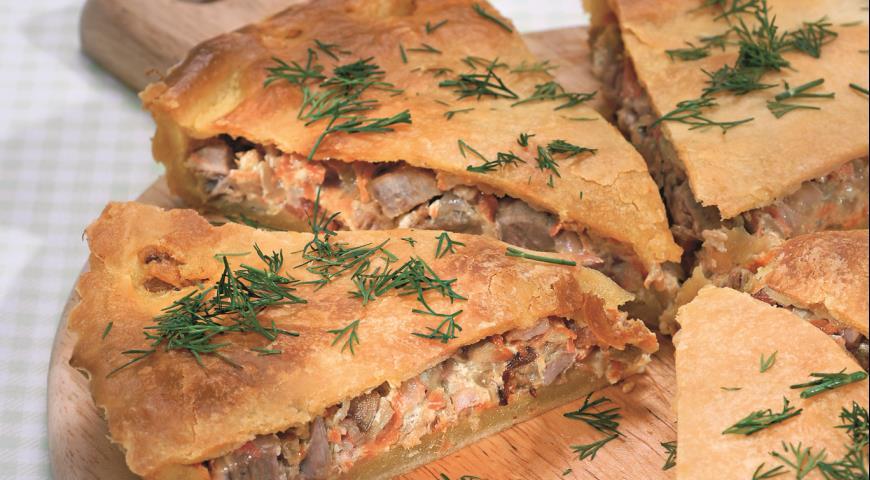 Пирог со свининой и овощами | Рецепты с фото