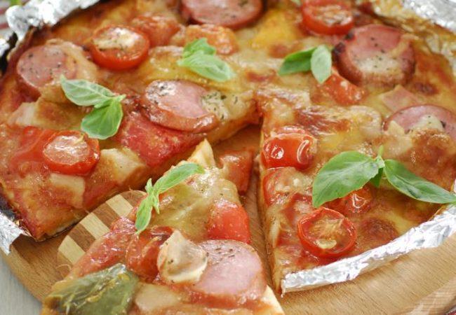 Пицца на мангале   Рецепты с фото