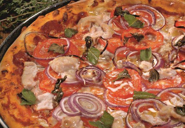 Пицца с индейкой и шалфеем   Рецепты с фото