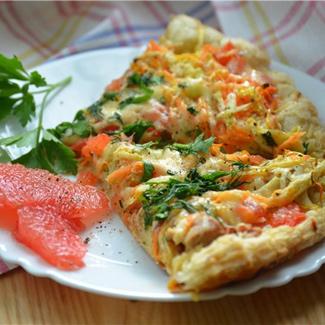 Пицца с курицей и грейпфрутом | Рецепты с фото