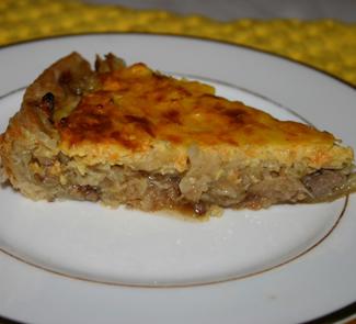 Пицца с печенью и капустой   Рецепты с фото