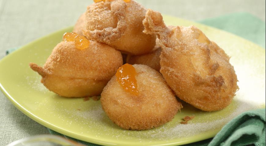 Пончики с абрикосами | Рецепты с фото