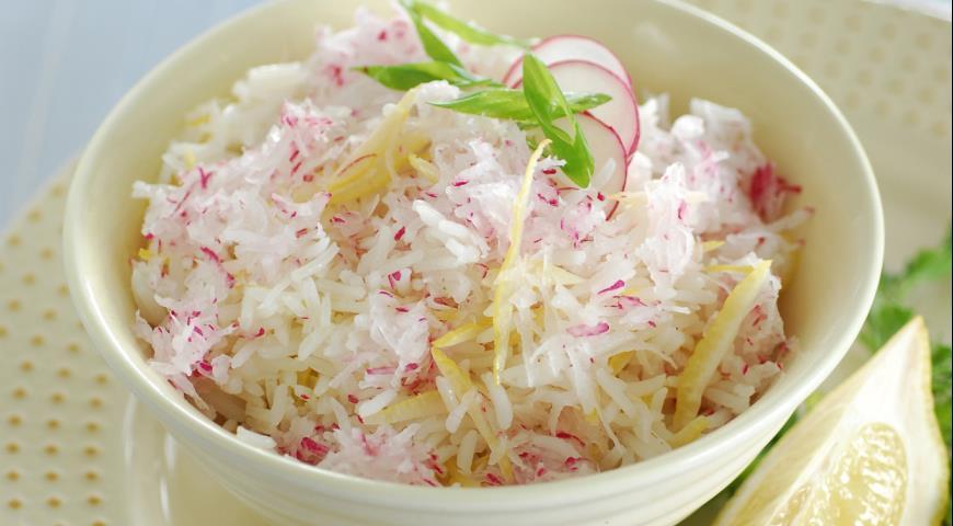 Рис с редисом и лимоном | Рецепты с фото