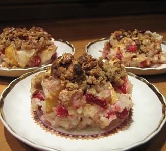 Рисовая каша с грушами для праздничного завтрака | Рецепты с фото
