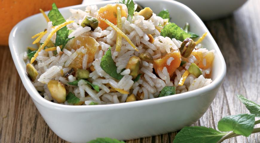 Рисовый салат с фисташками и мятой   Рецепты с фото