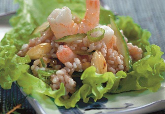 Рисовый салат с креветками | Рецепты с фото