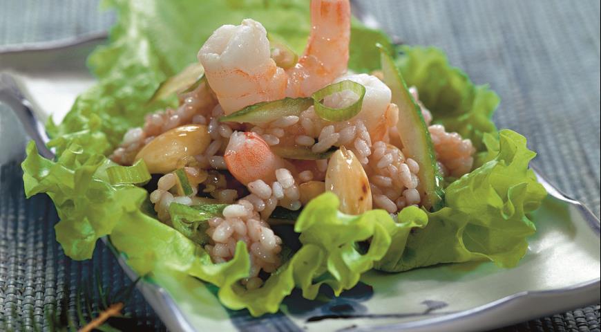 Рисовый салат с креветками   Рецепты с фото